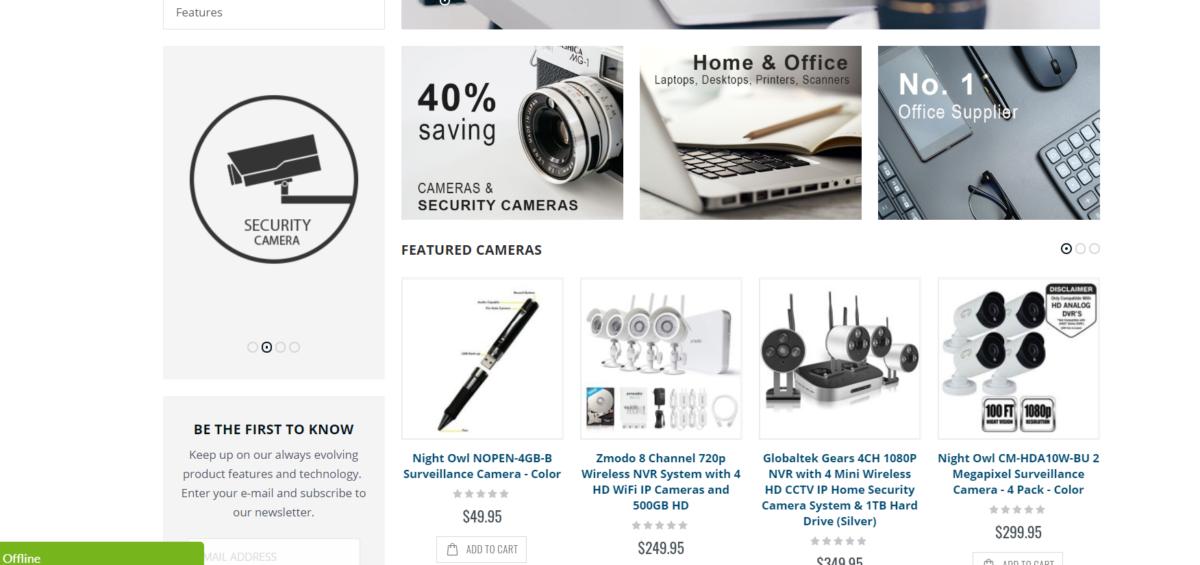 Desirebase Ecommerce Home Security Store